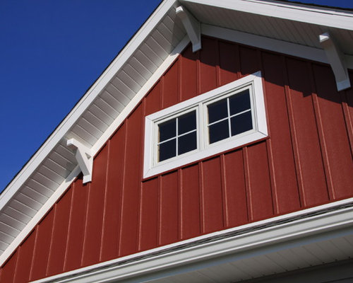 Craftsman one story shed roof home design ideas remodels Craftsman roofing