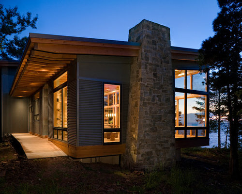 Corrugated metal siding home design ideas pictures - Corrugated iron home designs ...