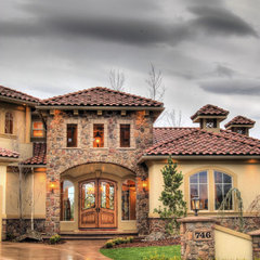 mediterranean exterior by Tradewinds General Contracting, Inc.