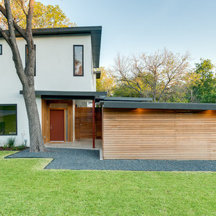 Trendy two-story exterior home photo in Dallas