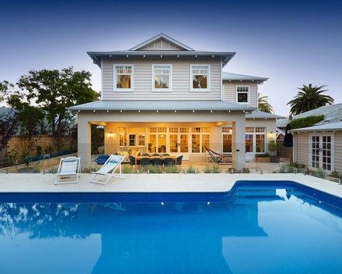 Foto e idee per facciate di case facciata di una casa al for Piani di casa cad gratuiti