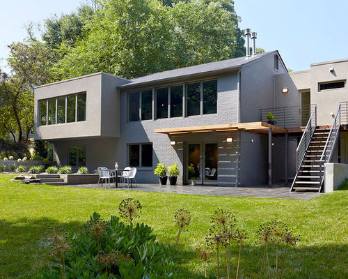 Stucco And Brick Exterior brick and stucco | houzz