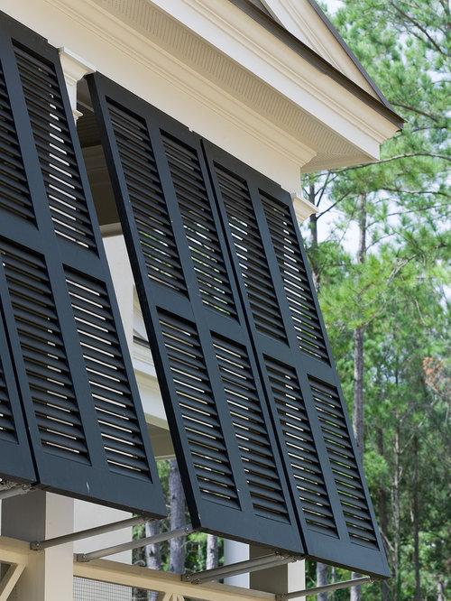 Bermuda shutter houzz for Used exterior shutters
