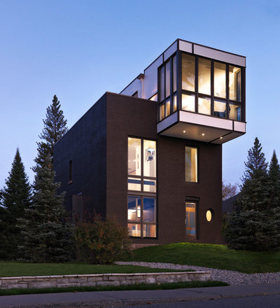 Contemporary Exterior by Kariouk Associates