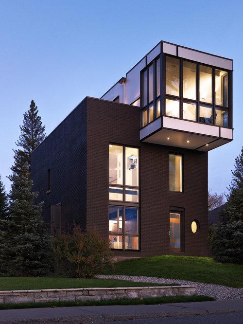 Chocolate brick houzz for Exterior home solutions ottawa