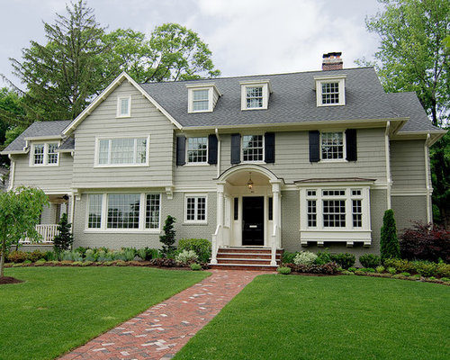 Painted Brick Siding Home Design Ideas Pictures Remodel