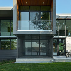 Contemporary Exterior by Rosenow   Peterson Design