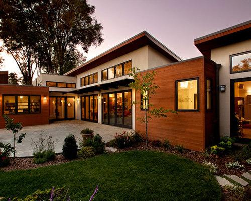 Stucco And Wood Siding   Houzz
