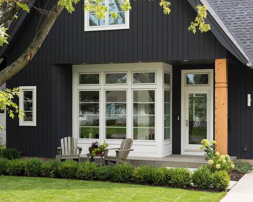 skandinavisches haus mit faserzement fassade ideen design bilder. Black Bedroom Furniture Sets. Home Design Ideas