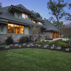Transitional Exterior by SKD Architects