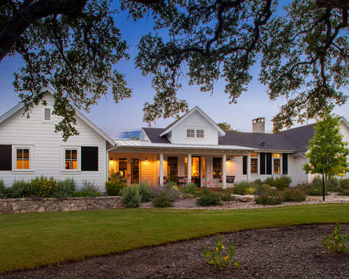 Farmhouse e Story Exterior Home Design Ideas Remodels & s