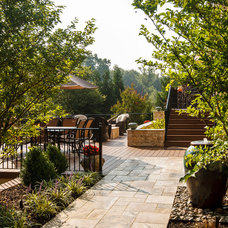 Mediterranean Landscape by StoneMar Natural Stone Company LLC