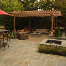 Traditional Exterior by Elements Landscape Inc