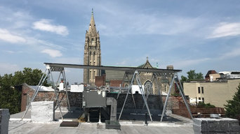 Elevating solar above rooftop AC units with the Brooklyn Solar Canopy