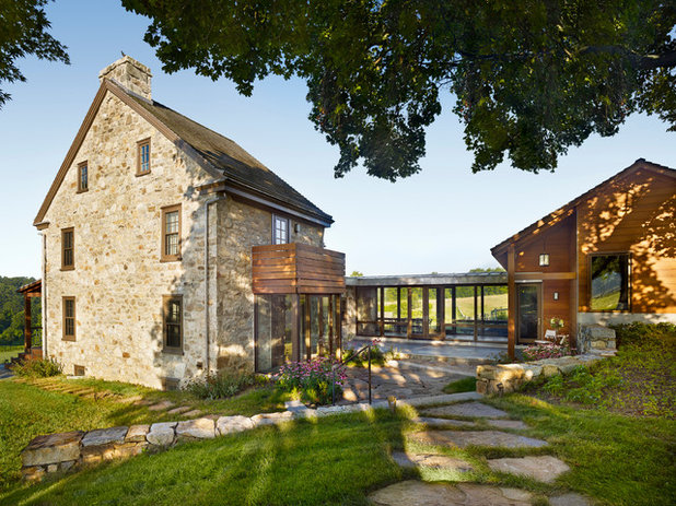 Farmhouse Exterior by neely architecture
