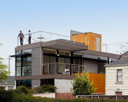 Roof balcony houzz - Houses with attic and balconies ...