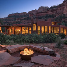 Southwestern Exterior by Charles Van Block Architects