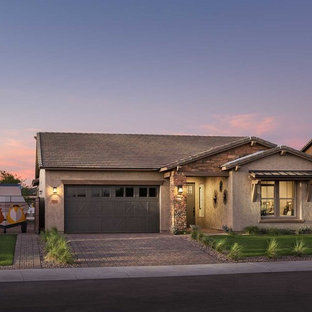 Example of a southwest exterior home design in Phoenix