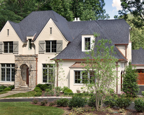 Brick With Stone Accents Home Design Ideas Pictures