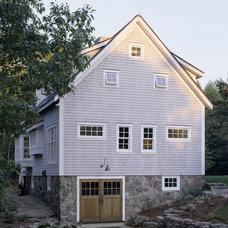 Farmhouse Exterior by Houses & Barns by John Libby
