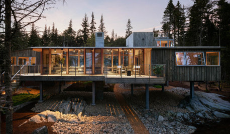 A Modern Wood-and-Concrete Cabin in Coastal Maine