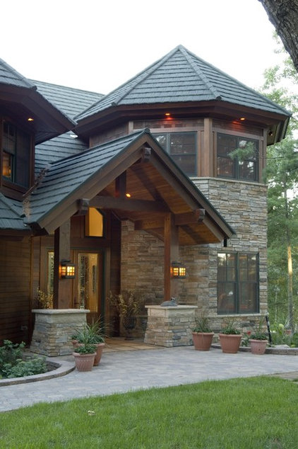 Rustic Exterior by Marie Meko, Allied ASID