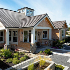 Farmhouse Exterior by Dan Nelson, Designs Northwest Architects