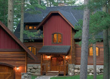 Can you tell me what the brown horizontal siding is called?