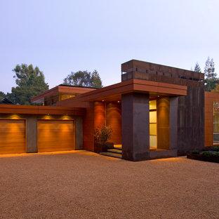 Einstöckiges Modernes Haus mit Metallfassade in San Francisco