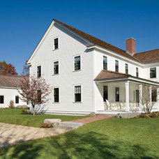 Farmhouse Exterior by Windover Construction