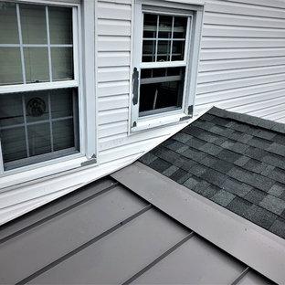 Estate Grey Owens Corning Shingles and Slate Grey Standing Seam Metal Roof Insta