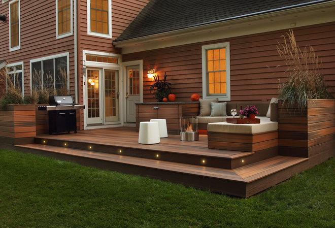 Modern Exterior by Karen Garlanger Designs, LLC