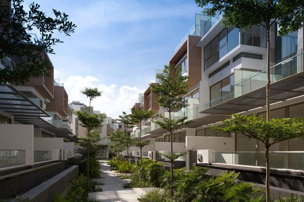 コンテンポラリー 家の外観 by AGA Architects