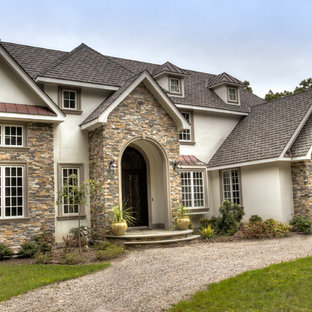 European Style Home with Natural Thin Stacked Stone Cladding
