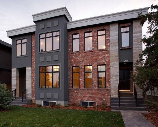 contemporary brick exterior home design ideas, remodels & photos