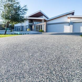 Design ideas for a contemporary exterior in Perth.