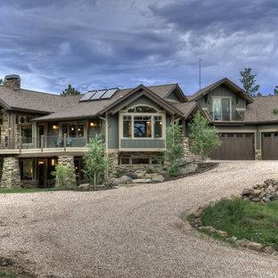 Craftsman wood exterior home idea in Denver
