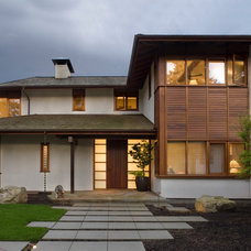 Asian Exterior by Richard Brown Architect AIA