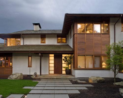 Asian exterior siding home design photos decor ideas for Asian exterior house design