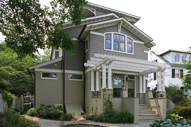 Exposed Rafter Tails Show Heads Up Craftsman Style