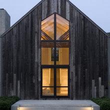 Behandlat trä fasad