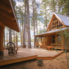 rustic exterior by Whitten Architects