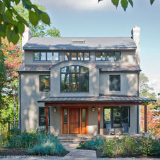 Transitional Exterior by CHECA Architects PC