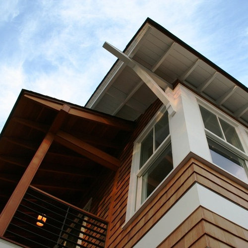 Decor Tips Outstanding Gabled Roof For Exterior Design: Exposed Rafters Home Design Ideas, Pictures, Remodel And Decor