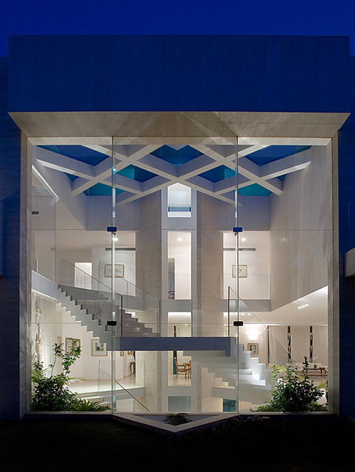 Glass enclosed stair design ideas remodel pictures houzz
