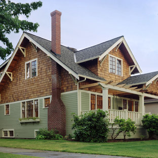 Traditional wood gable roof idea in Portland