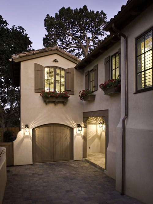 Example Of A Tuscan Two Story Exterior Home Design In Other
