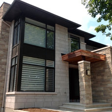 Contemporary Exterior by Merkley Supply