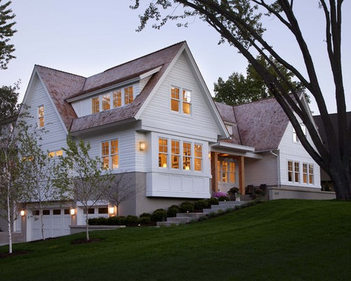 Basement garage houzz for Adding exterior basement entry