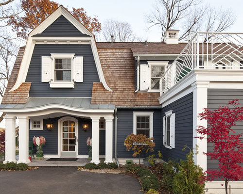 Exterior Paint Colors With Red Roof | Houzz